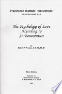 The Psychology Of Love According To St Bonaventure book