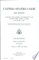 United States Code  2000 Edition  V  11  Title 20  Education  Sections 1201 End to Title 21  Food and Drugs