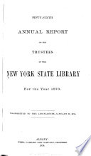 New York State Library  annual Report  Book PDF