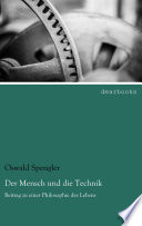 Der Mensch Und Die Technik book