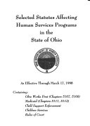 Selected Statutes Affecting Human Services Programs in the State of Ohio