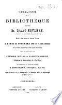 Catalogue de la biblioth  que de feu Mr  Isaac Meulman