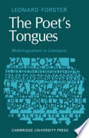 The Poets Tongues Multilingualism In Literature