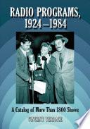 Radio Programs  1924  1984