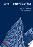 Beton-Kalender 2016