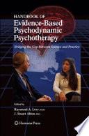 Handbook Of Evidence Based Psychodynamic Psychotherapy