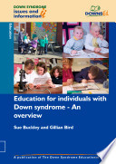 Education For Individuals With Down Syndrome