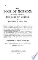 The Book of Mormon Book PDF