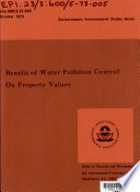 Benefit of Water Pollution Control on Property Values