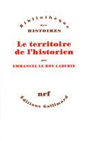 Le territoire de l'historien