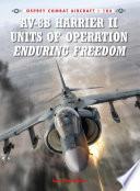 AV 8B Harrier II Units of Operation Enduring Freedom
