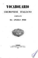 Vocabolario cremonese italiano