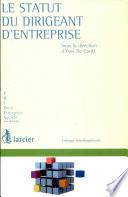 illustration du livre Le statut du dirigeant d'entreprise