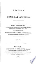 Records of General Science