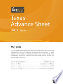 Texas Advance Sheet May 2012