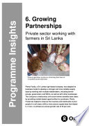 Growing Partnerships  Private sector working with farmers in Sri Lanka