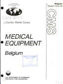 Medical equipment, Belgium