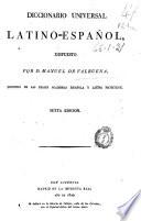 Diccionario universal latino espa  ol