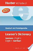 Student s dictionary German English  English German