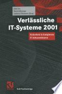 Verlässliche IT-Systeme 2001