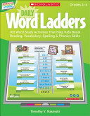 Daily Word Ladders  Grades 4 6