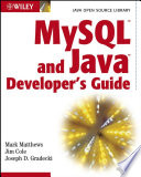Mysql And Java Developer S Guide