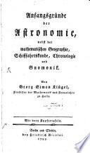 Anfangs-Gründe der Astronomie