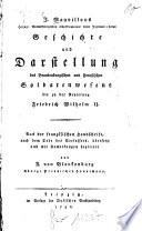 Geschichte und Darstellung des Brandenburgischen und Preussischen Soldatenwesens