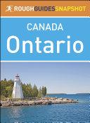 The Rough Guide Snapshot Canada  Ontario