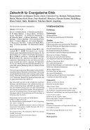Zeitschrift f  r Evangelische Ethik