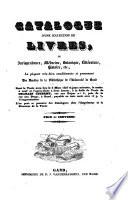 Catalogue d une collection de livres  de jurisprudence  m  decine      provenant des doubles de la biblioth  que de l universit   de Gand