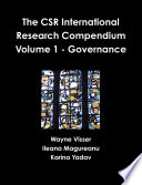 The CSR International Research Compendium  Volume 1   Governance
