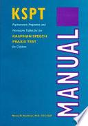 Kaufman Speech Praxis Test For Children