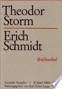 Theodor Storm – Erich Schmidt II. 1880-1888