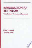 Introduction to Set Theory  Third Edition  Revised and Expanded