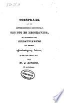 Toespraak aan het letteroefenend Genootschap tot nut en beschaving, bij gelegenheid der feestviering van deszelfs vijf-en-twintigjarig bestaan, op den 13den Maart 1833
