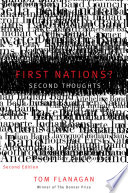 First Nations  Second Thoughts Book PDF
