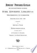 Hinrichs  F  nfjahrs Katalog der im deutschen Buchhandel erschienenen B  cher  Zeitschriften  Landkarten usw