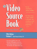 The Video Source Book 9 Volume Set: a Guide to Programs Currently Available on Video in the Areas Of: Moives/Entertainment/ General Interest/ Eucation Sports/Recreation/ Fine Arts/Health