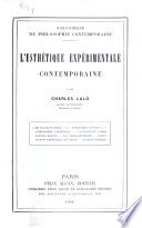 L esth  tique exp  rimentale contemporaine