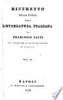 Ristretto della storia della letteratura italiana