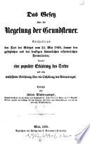 """""""Das"""" Gesetz über die Regelung der Grundsteuer"""