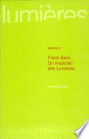 Franz Beck  un musicien des Lumi  res