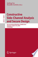 Constructive Side Channel Analysis and Secure Design