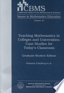 Teaching Mathematics in Colleges and Universities