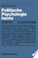 Politische Psychologie heute