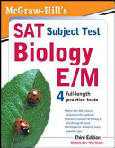 McGraw Hill s SAT Subject Test Biology E M  3rd Edition