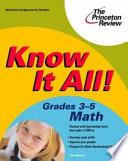 Know It All  Grades 3 5 Math