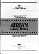 The Urian anthology, 1970-1979