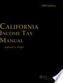 California Income Tax Manual  2008